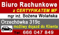 Biuro Rachunkowe - mgr inż. Bożena Wolańska